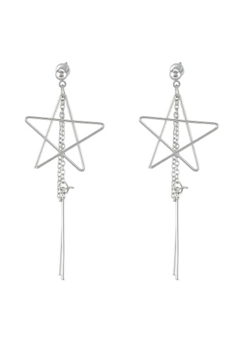 Saturation silver Astraea Star Drop Earrings SA407AC0RSWMMY_1