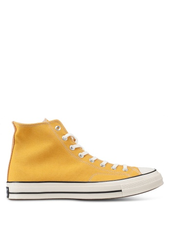 Converse 黃色 Chuck Taylor All Star 70 Vintage Canvas Hi Sneakers F6A7CSH0183954GS_1