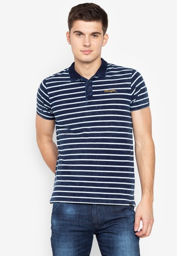 Shop Wrangler Stripe Indigo Dye Pique Cotton Online on ZALORA Philippines 1bca166ff