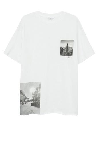 MANGO KIDS white Printed Oversize T-Shirt 747F4KA1B8F798GS_1
