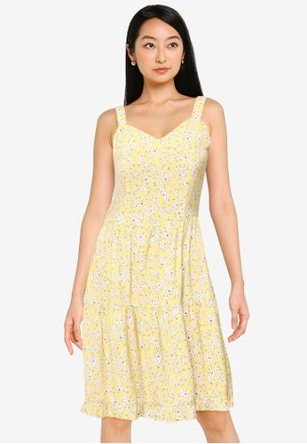 ZALORA BASICS multi Sweetheart Tiered Mini Dress C828FAA737F2DEGS_1