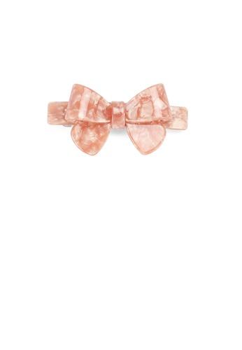 Glamorousky silver Fashion Simple Pink Ribbon Small Hair Slide 588C0AC9BDEABCGS_1