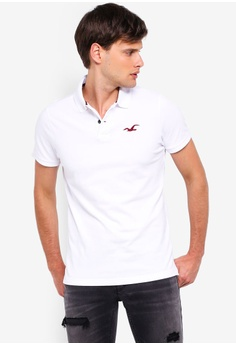 f710a8764 Hollister white Exploded Icon Polo Shirt 9F14BAA3D4716CGS_1
