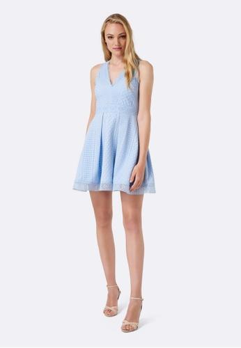 Forever New blue Valery Lace Mini Ball Dress B3E85AA7FA7580GS_1