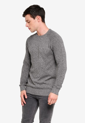 Indicode Jeans grey Maxime Ribbed Raglan Knitted Sweater F1252AA0F032C0GS_1
