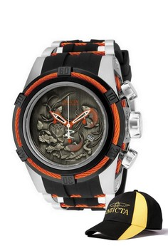 Bolt 53mm Case Watch 14193 with FREE Baseball Cap