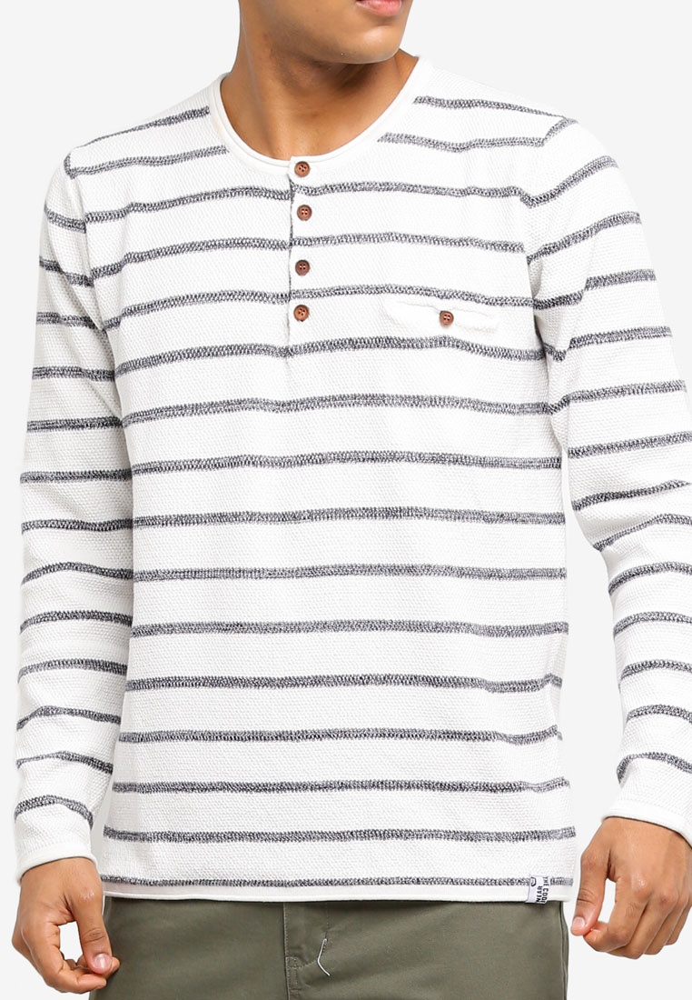 Grandad Optical Jeans Knitted White Sweater Kennedy Indicode 7wxq5U0