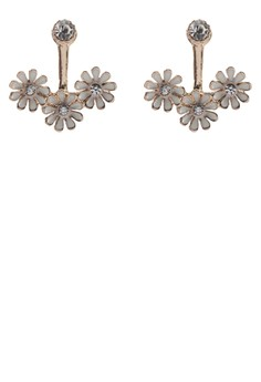 Daisy Repeater Front And Back Earrings