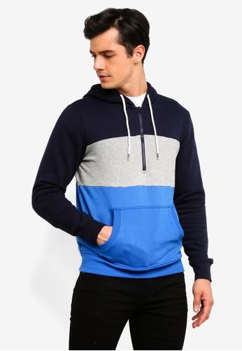 OVS blue Hooded Sweatshirt With Pocket F1CB1AA7DC0A10GS_1