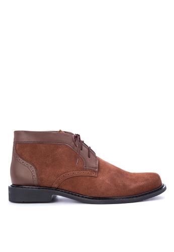 Brogue & Derby brown Drexel Boots 7C121SH2D5BE61GS_1