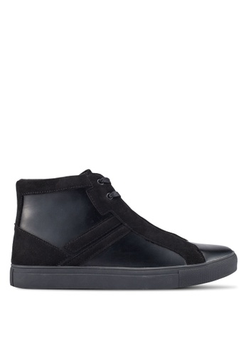 ZALORA black Contemporary High Top Sneakers 8B885SHD1C01EEGS_1