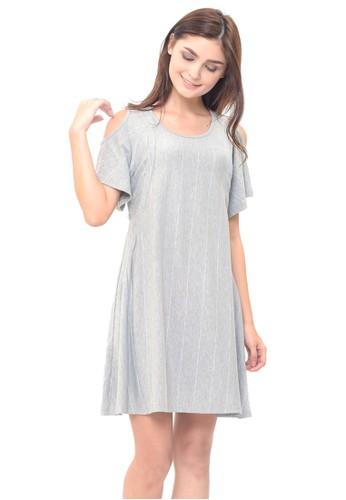 MOOIMOM grey MOOIMOM Cold Shoulder Nursing Dress & Baby Clothes Baju Hamil Menyusui Couple Ibu Anak - Grey Boy F878FAA6B891A5GS_1