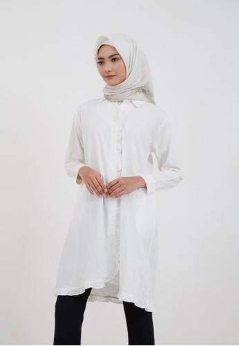 Hijabenka white Sephia Kazia Ruffle Tunic White 97607AA1AA92C5GS_1