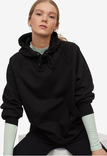 H&M black Hooded Top 9A0C2AAC462033GS_1