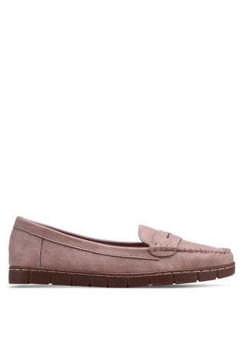 Bata pink Round Toe Boat Shoes 85B30SH58D0EE4GS_1