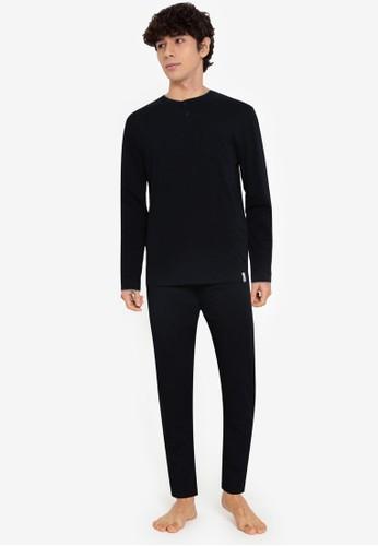 Springfield navy Organic Cotton Knit Pyjamas 0AB54AA2DBE7EFGS_1
