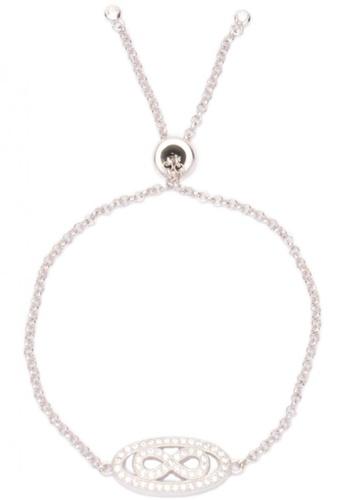 Silverworks silver Zircon Infinity Bracelet  SI696AC68DZRPH_1