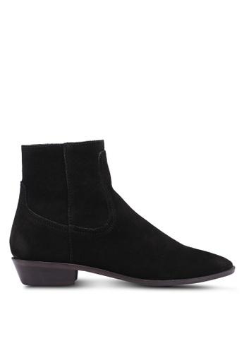 Mango black Zipper Leather Boots 64C1ESH620F004GS_1