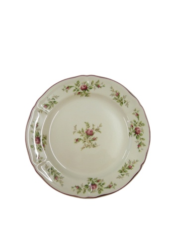 """Claytan Moss Rose With Banding - 10.2"""" Dinner Plate 756B6HL21D4EEDGS_1"""