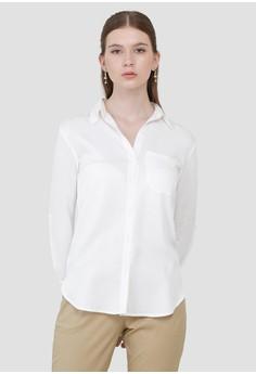 f983455a382e Cloth Inc white One Pocket Shirt in White F7426AA4597FDEGS_1