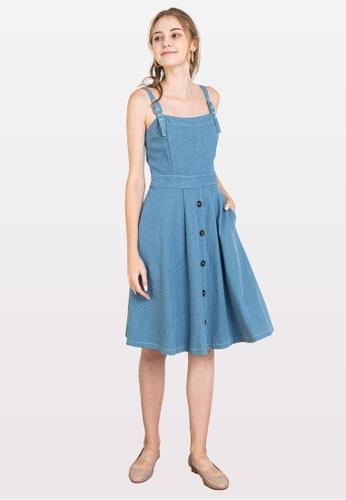 L'zzie blue LZZIE BLAKE DRESS - LIGHT BLUE 7B58FAAA0120C9GS_1