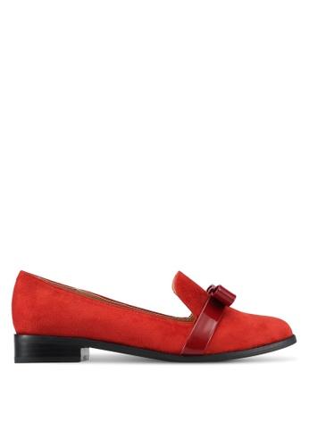ZALORA orange Patent Bow Loafers F3FC8SH3902C16GS_1