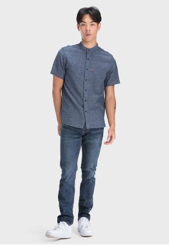 Levi's blue Levi's Ss Mandarin Collar Shirt 69891-0004 6ED10AA47A5450GS_1