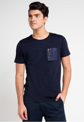 Cressida navy Zipper Pocket Tee CR235AA0VQ5KID_1