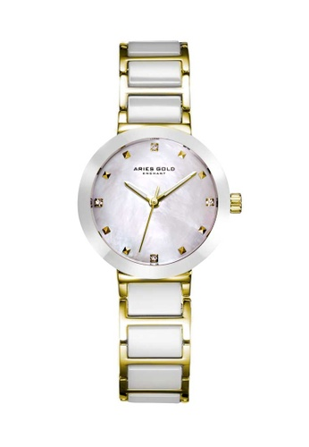 Aries Gold white Aries Gold Enchant Persia White and Gold Watch 4B393AC9C68595GS_1