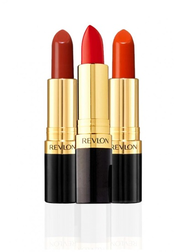 Revlon red and orange Super Lustrous™ Lipstick Matte & Crème Love Collection - Rosewine/Love That Red/Kiss Me Coral RE737BE31CXGSG_1
