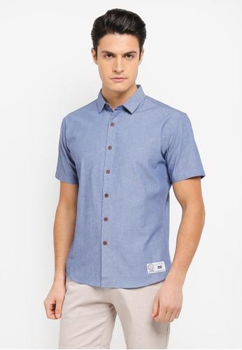 JAXON blue Embroidered Logo Short Sleeves Shirt 16E07AA26D4D73GS_1