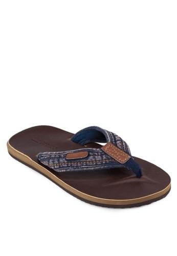 Borso 印花zalora 折扣碼夾腳涼鞋, 鞋, 拖鞋