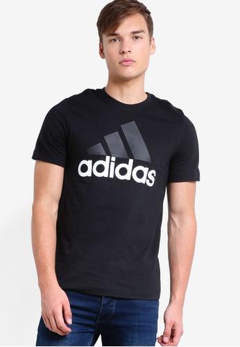 adidas black adidas ess linear tee AD372AA0S2GUMY_1