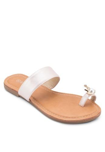 金飾夾趾涼鞋、 女鞋、 懶人鞋St3p金飾夾趾涼鞋最新折價