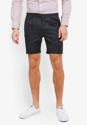 ZALORA navy Pin Stripes Formal Shorts FB7F8AAC0011F1GS_1