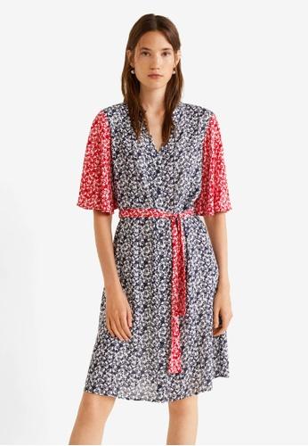 MANGO red Printed Bow Dress DEA05AA89B7761GS_1