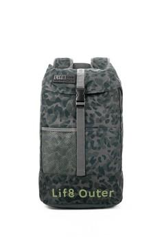 Life8-Outer 輕量 大容量迷彩後背包-06369-迷彩灰