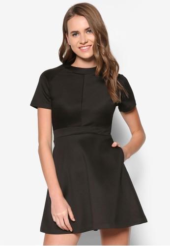 素色拼接洋裝, 服飾zalora時尚購物網的koumi koumi, 洋裝