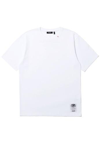 Fivecm white Embroidered emblem tee E1FB0AA7B71BDDGS_1