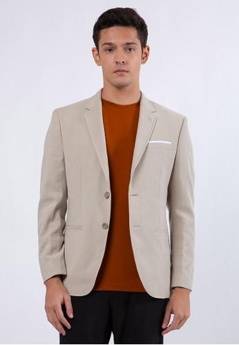 The Executive beige Cool Max Blazer 35722AA21444C8GS_1