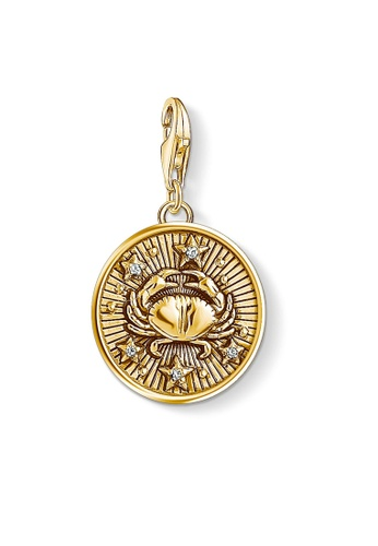 "THOMAS SABO gold Charm pendant ""zodiac sign Cancer"" 9D6A2ACE2C5F10GS_1"