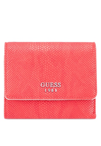 Guess red and silver Keaton Sling Small Trifold C264FAC4706921GS_1