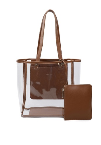 Milliot & Co. 褐色 Eleanor Tote Bag BFE34ACA65156BGS_1