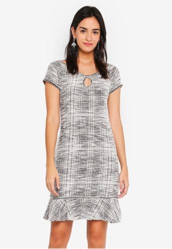 Max Studio black Knit Cap Sleeve Dress 376C8AAA3FF985GS_1