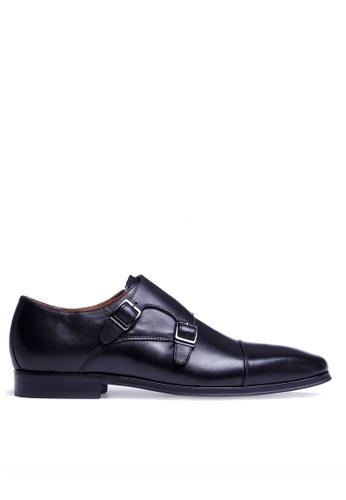 Twenty Eight Shoes black Leather Monk Strap Shoes DS201608-22 C6B24SH97F13AEGS_1