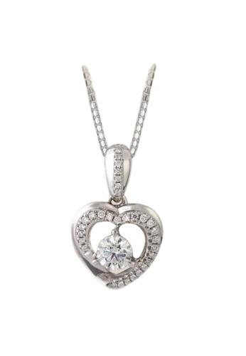 GOLDHEART GOLDHEART Je t'aime Pendant, White Gold 750 (JET-P5925) FE153ACAF9BC3DGS_1