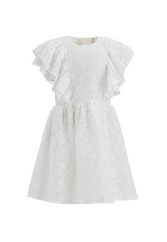 DeFacto white Girl Ruffled Lacework Dress 77F05KAB21CA37GS_1