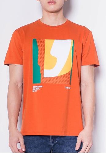 SUB orange Men Short-Sleeve Graphic Tee D3F22AABDE3684GS_1