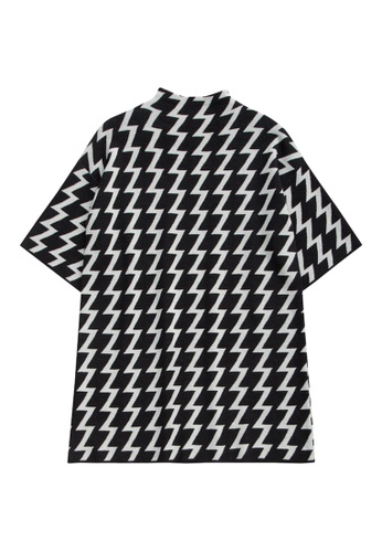 KLAPS black Zig Zac Patterned Dress C4976AAFA5F32AGS_1