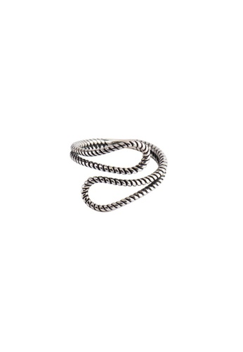OrBeing 白色 Premium S925 Sliver Twist Ring 8A915AC7FDE0C6GS_1